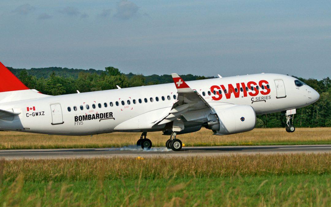 Les Bombardier C-Series de Swiss arrivent enfin
