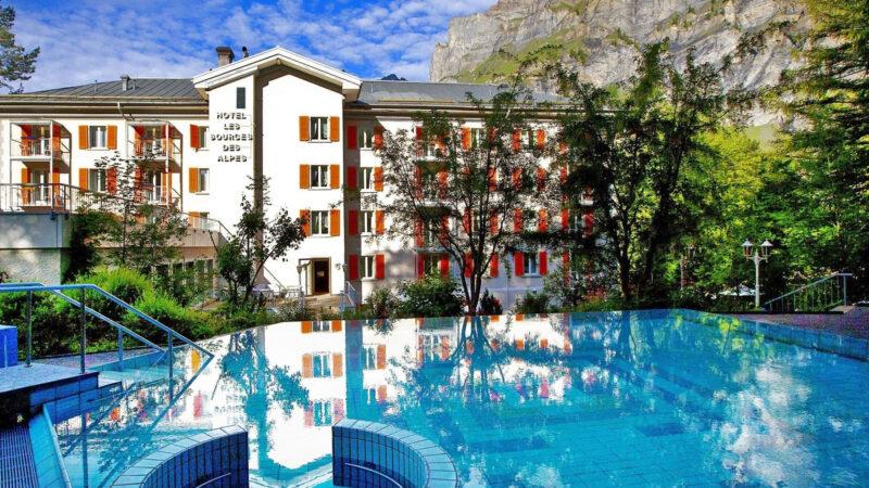 Suisse – Loèche-les-Bains Les Sources des Alpes *****